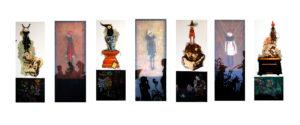 """""""图鸦""""系列—守望者系列-160X55CMX7-布面油彩-2013年-新-.jpg"""