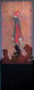"""""""图鸦""""系列—守望者系列NO1-160X55CM-布面油彩-2013年-.jpg"""