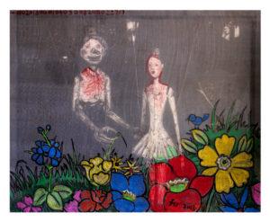 """""""图鸦""""系列8-木偶的新娘-100X80CM-亚麻布,纱网,油彩-2013-1-.jpg"""