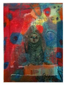 """""""图鸦""""系列NO16-草图系列1-30X40CM-亚麻布,纱网,油彩2015-.jpg"""