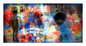 """""""图鸦""""系列NO24-百鸟朝凤-200X95CM-亚麻布,纱网,油彩-2016-.jpg"""