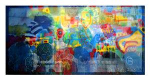 """""""图鸦""""系列NO32-万花瞳-200X95CM-亚麻布,纱网,油彩-2016-2017-.jpg"""