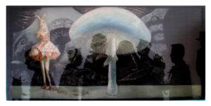 """""""图鸦""""系列NO4-爱丽丝的兔子-200X95CM-亚麻布,纱网,油彩-2012-.jpg"""